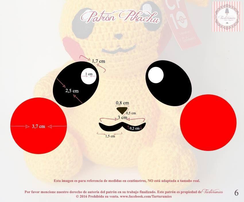 Patrón amigurumi de Pikachu | Pikachu | Pinterest | Pikachu ...