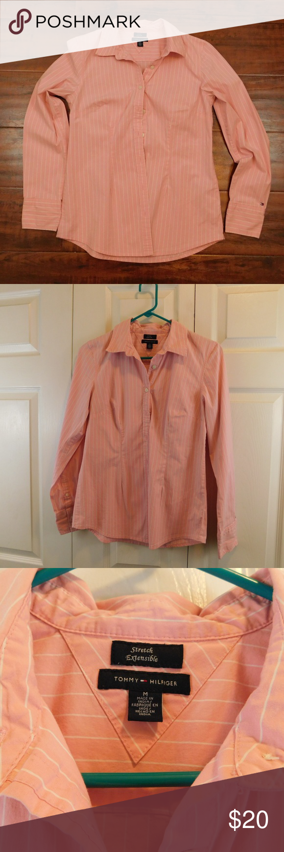 Womens Tommy Hilfiger Stretch Pink White Medium This Women S Tommy Hilfiger Pink Shirt With White Stripes Is In Excelle Tommy Hilfiger Hilfiger Colorful Shirts [ 1740 x 580 Pixel ]