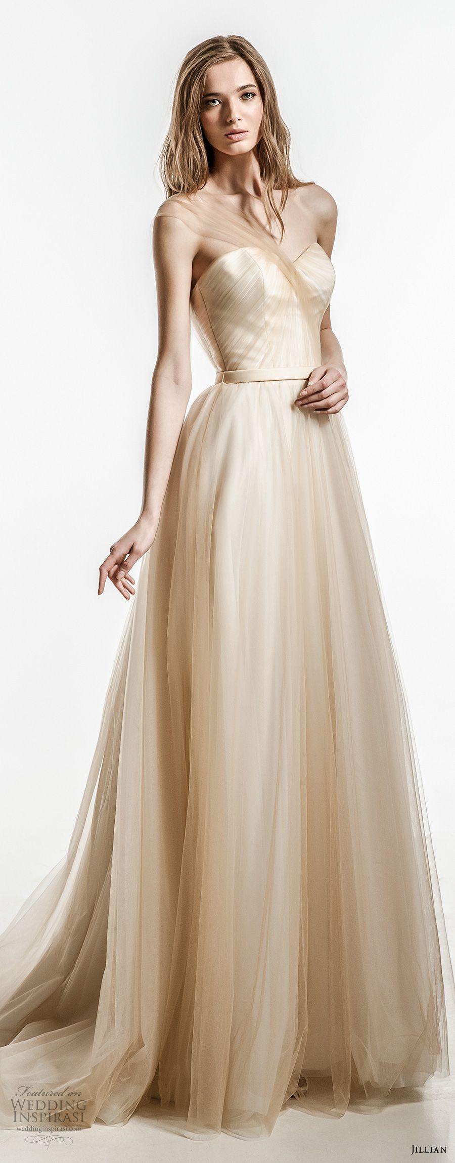 Jillian 2018 Wedding Dresses | Champagne colour, Champagne and Neckline