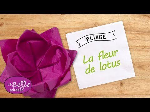 Pliage De Serviette En Papier En Forme De Palmier Labelleadresse