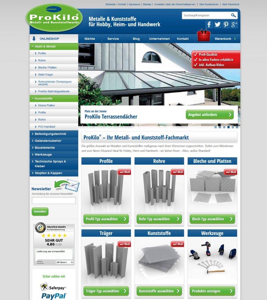 Neues Design der Startseite prokilo.de