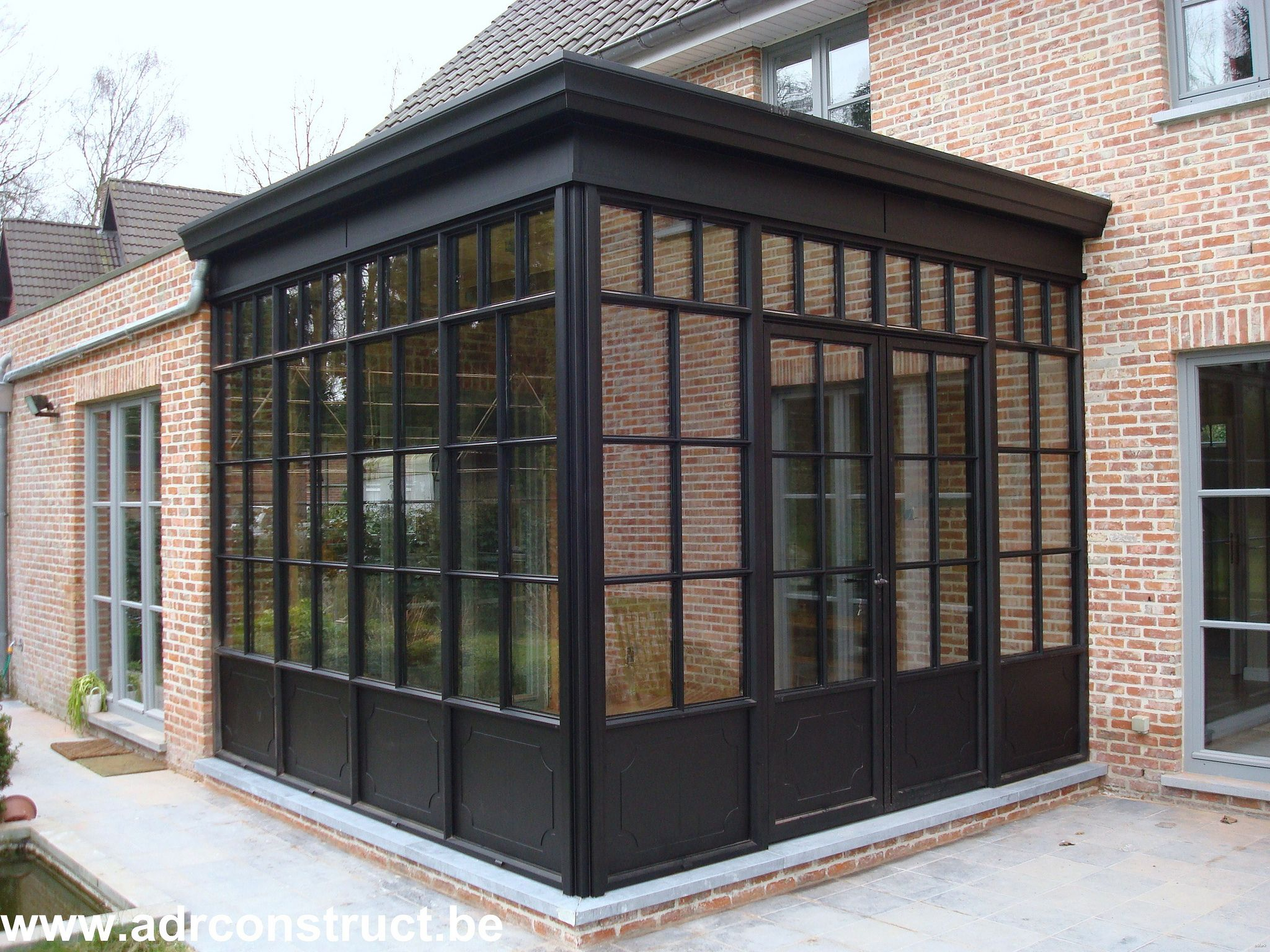 Steel Look Veranda Glass Porch House Exterior Architecture