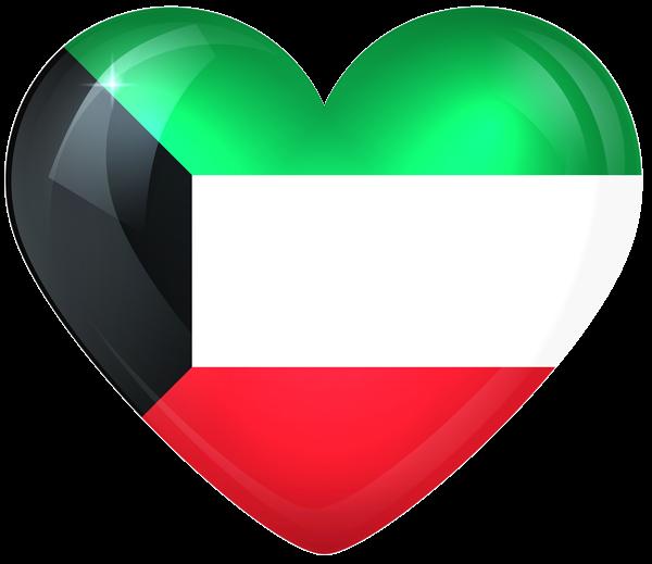 Kuwait Large Heart Flag Kuwait National Day Kuwait Flag Kuwait