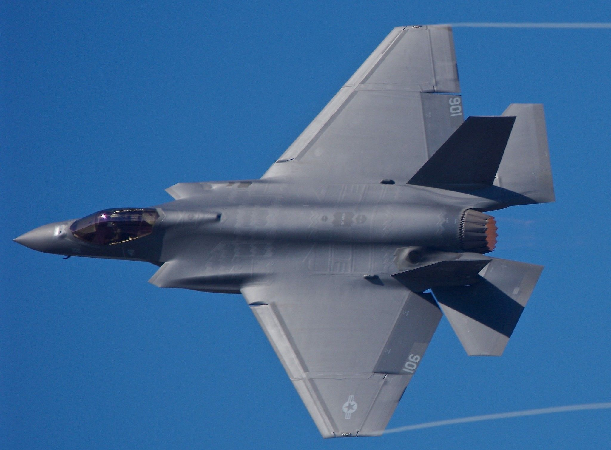 166963 F35C VFA125 NJ106 Air show, Fighter jets, Fighter