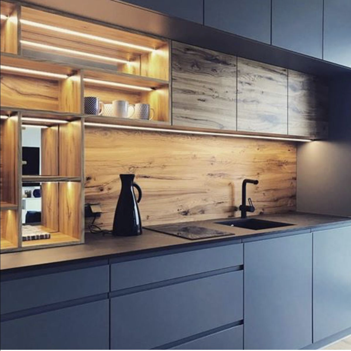 Kitchen Furniture Veneer And Acrylic Modern Kitchen Design Kitchen Furniture Design Kitchen Furniture