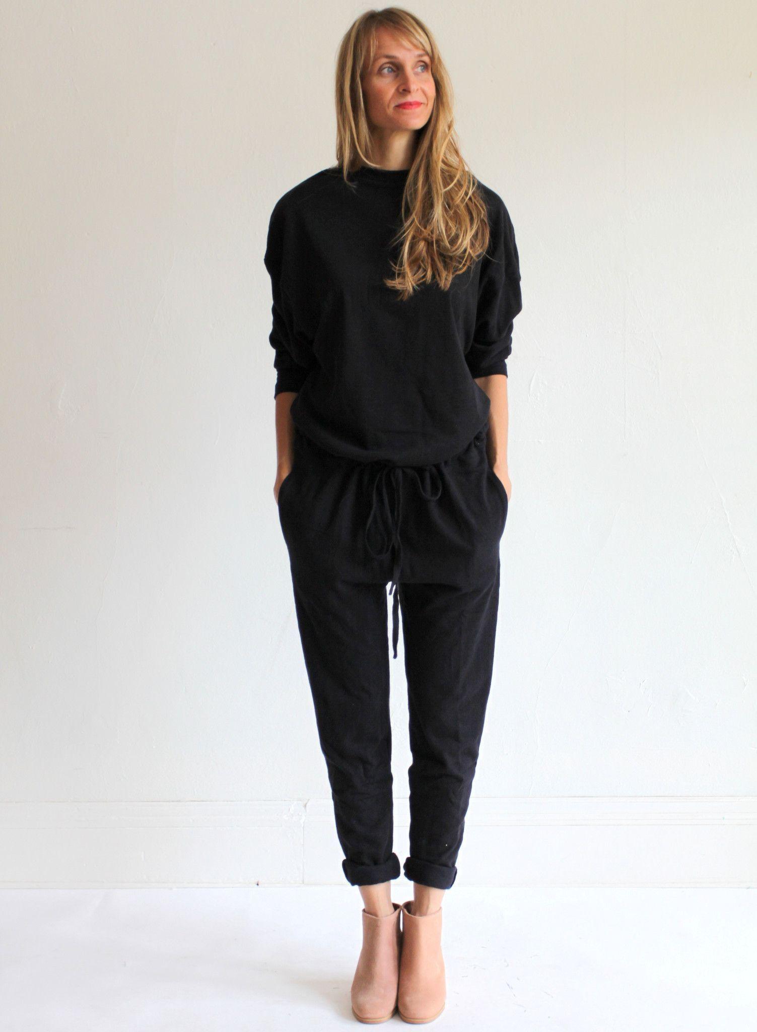 df0c6be474a1 The Podolls Drawstring Jumpsuit - Organic Black
