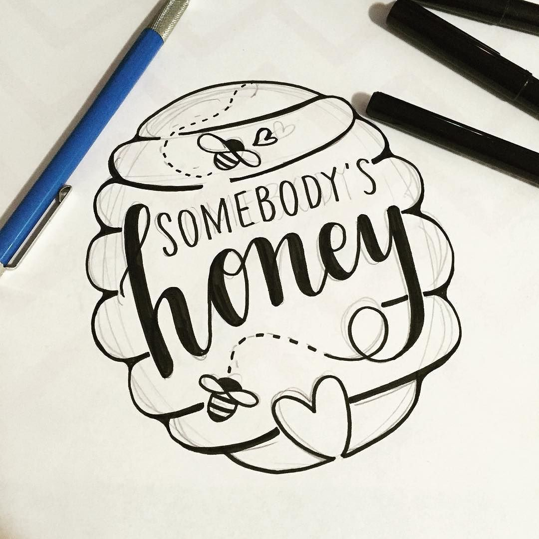 New sketch for a new Posecard! Sometimes I don't even follow the pencil lines at all... Are you somebody's HONEY? #ooakdiaries #ooakx15 #ooak #handmade #handlettered #handdrawn #toronto #torontoartist #torontoartisan #lettering #letteringideas #posecards #letteringtoronto #honey #bee #love by lovelettering_doriswai