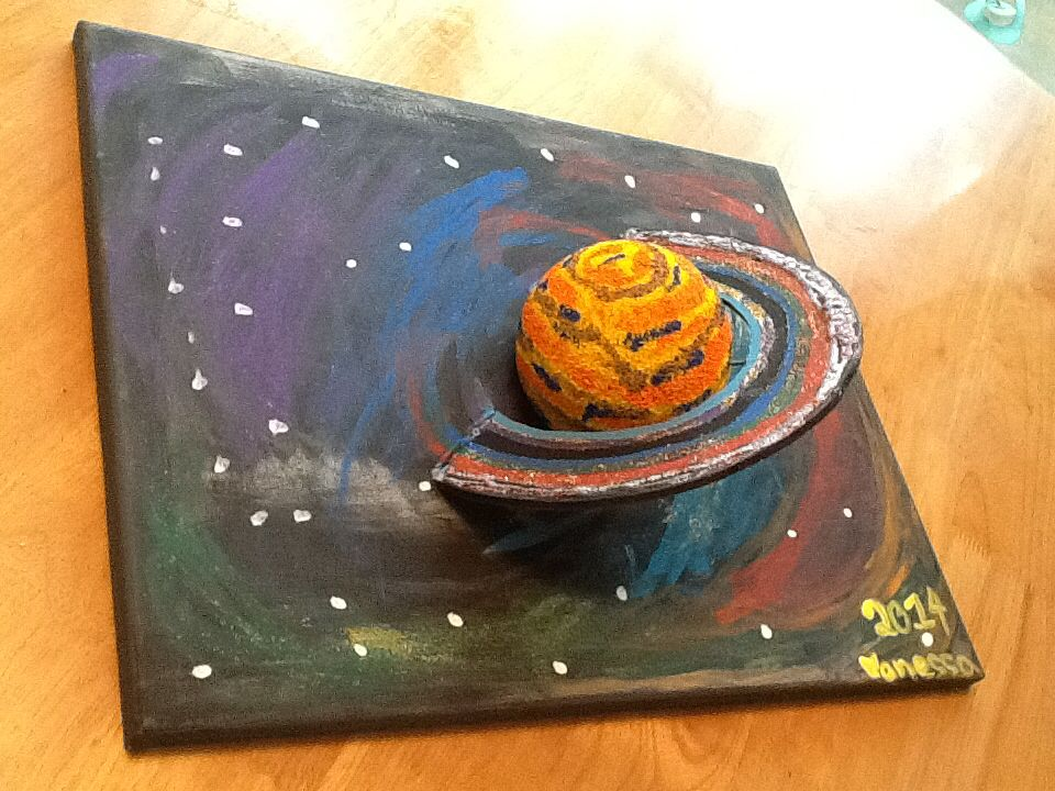 3D model of Saturn on a canvas | Planet project, Solar ...