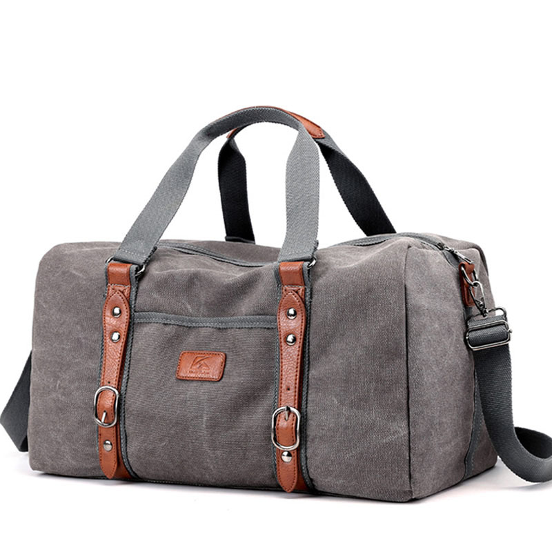 Canvas Duffle Bags Vintage Thick Canvas Leather Traveling Bag Men Hand Luggage Travel Bag Weekend Overnight Packing Xa216zc Canvas Duffle Bag Mens Travel Bag Duffle Bag Travel