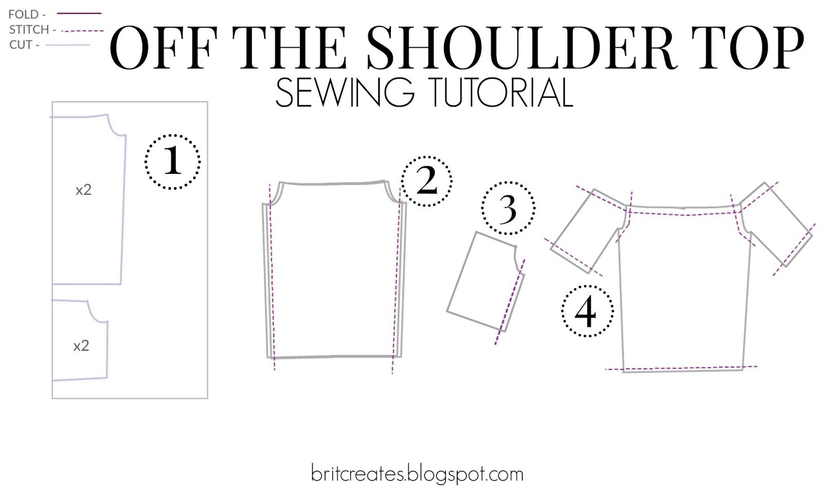 Diy Friday Off The Shoulder Top Dress Sewing Patterns