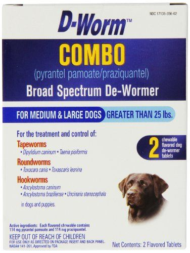 Dog Wormers Dworm 2 Count Combo Broad Spectrum Dewormer For Dogs Mediumlarge You Can Find Out More Details At The Link Wormer Small Puppies Dog Treatment