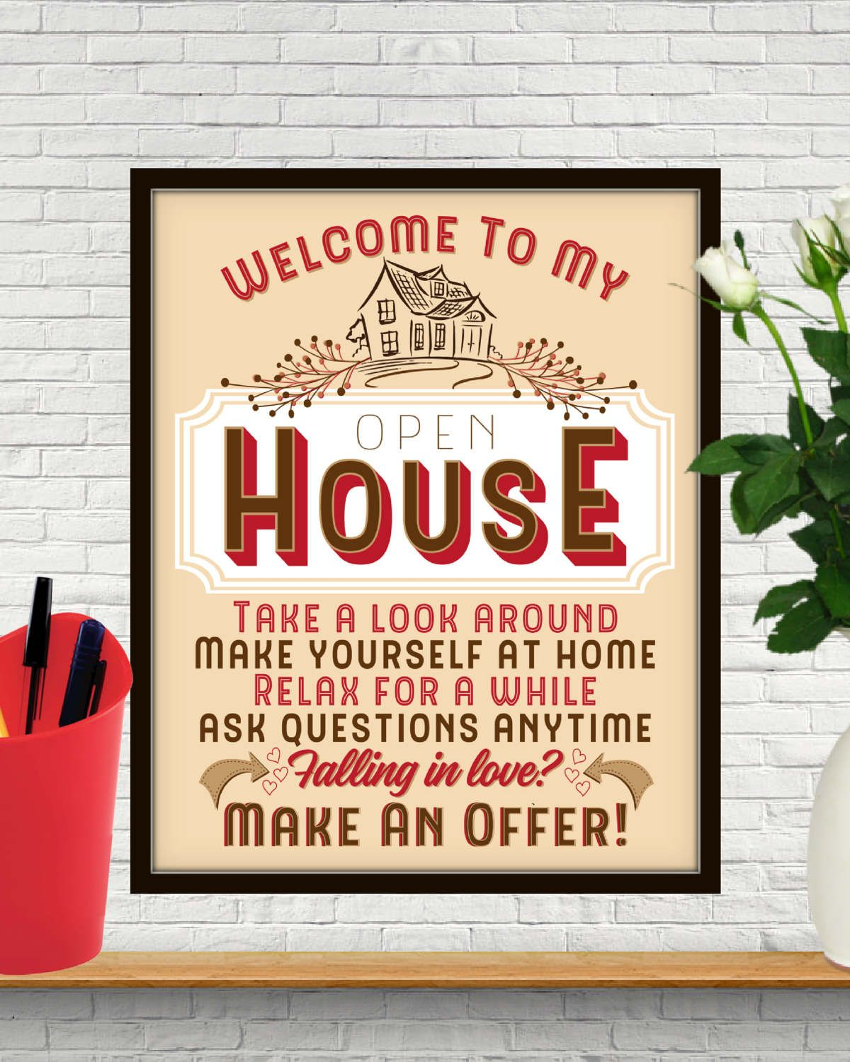 Welcome To My Open House, Open House Sign, Open House, Open House ...