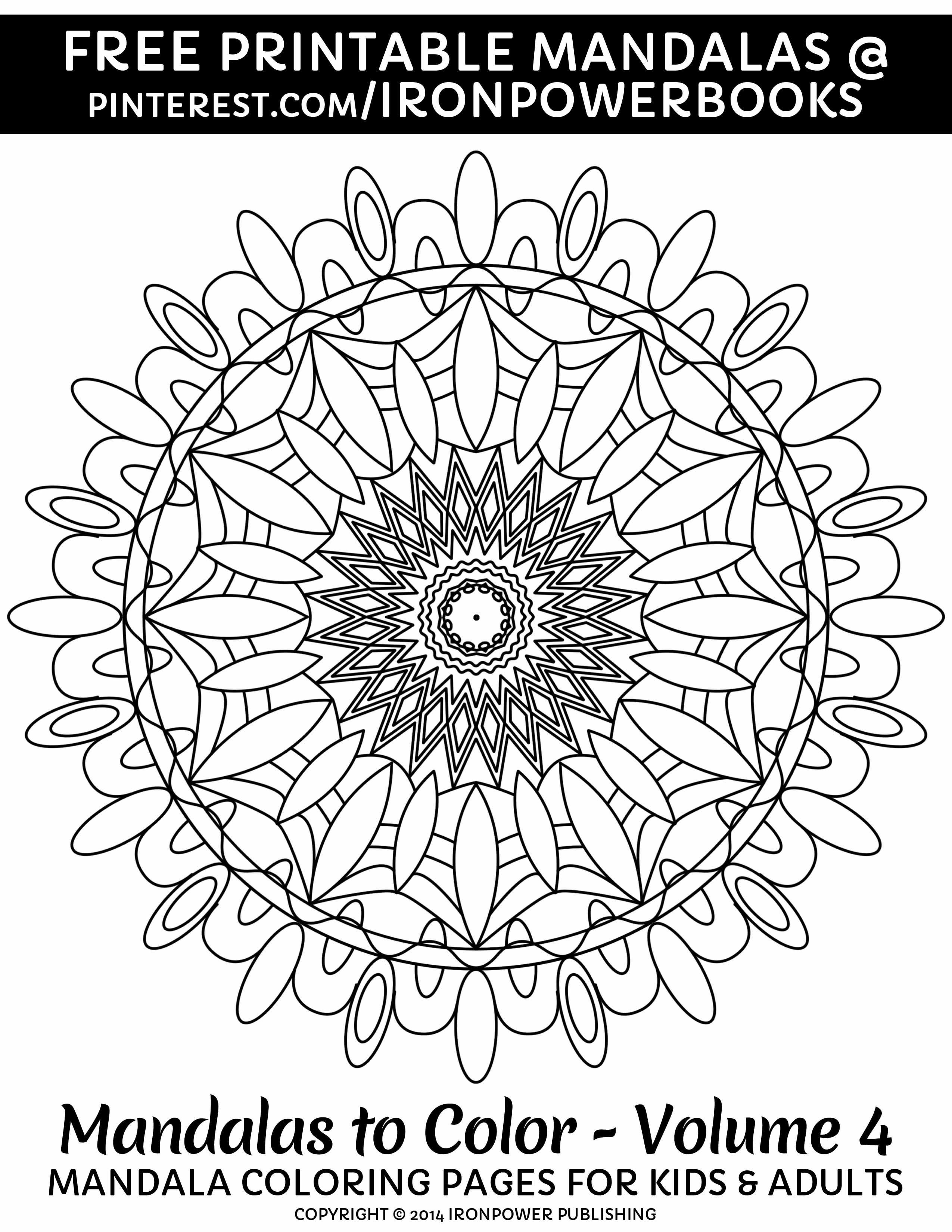 Free Coloring Page For Kids And Adults Please Use Freely For Personal Non Commercial Use Visit Mandala Coloring Pages Mandala Coloring Books Coloring Books
