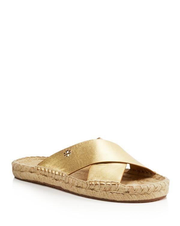 be595b252eec Tory Burch Bima Metallic Espadrille Slide Sandals