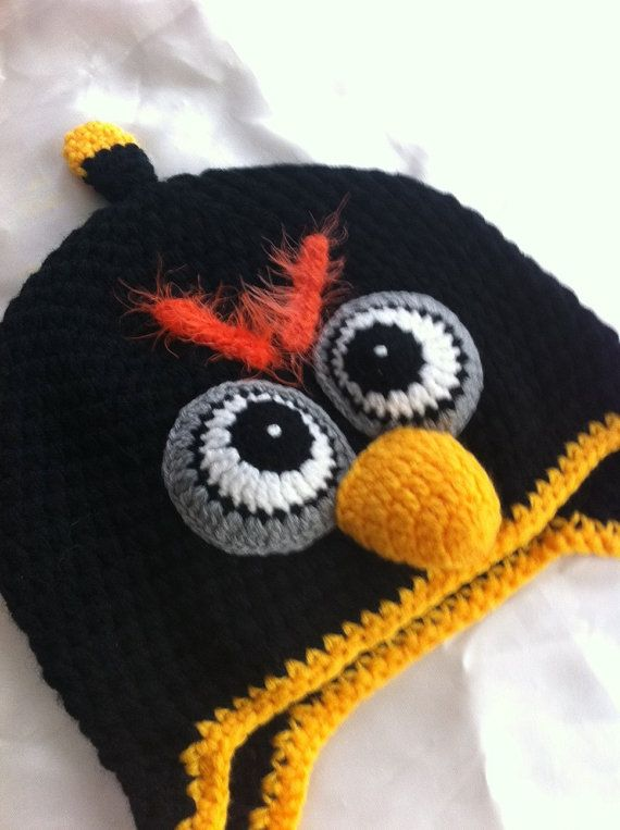 children crochet hat / toddler hat / angry bird hat / by NARELO ...