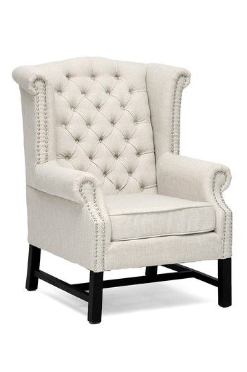 Sussex Beige Linen Club Chair By Wholesale Interiors On @HauteLook