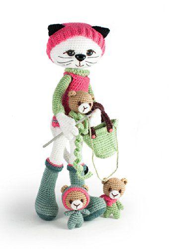 Amazon.com: Amiguitos Rechonchos Patrón de Amigurumi a Crochet ... | 500x346