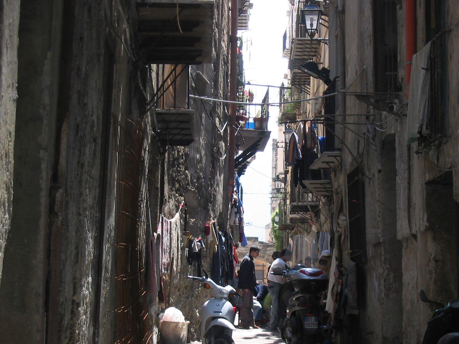 Straatleven Sicilie