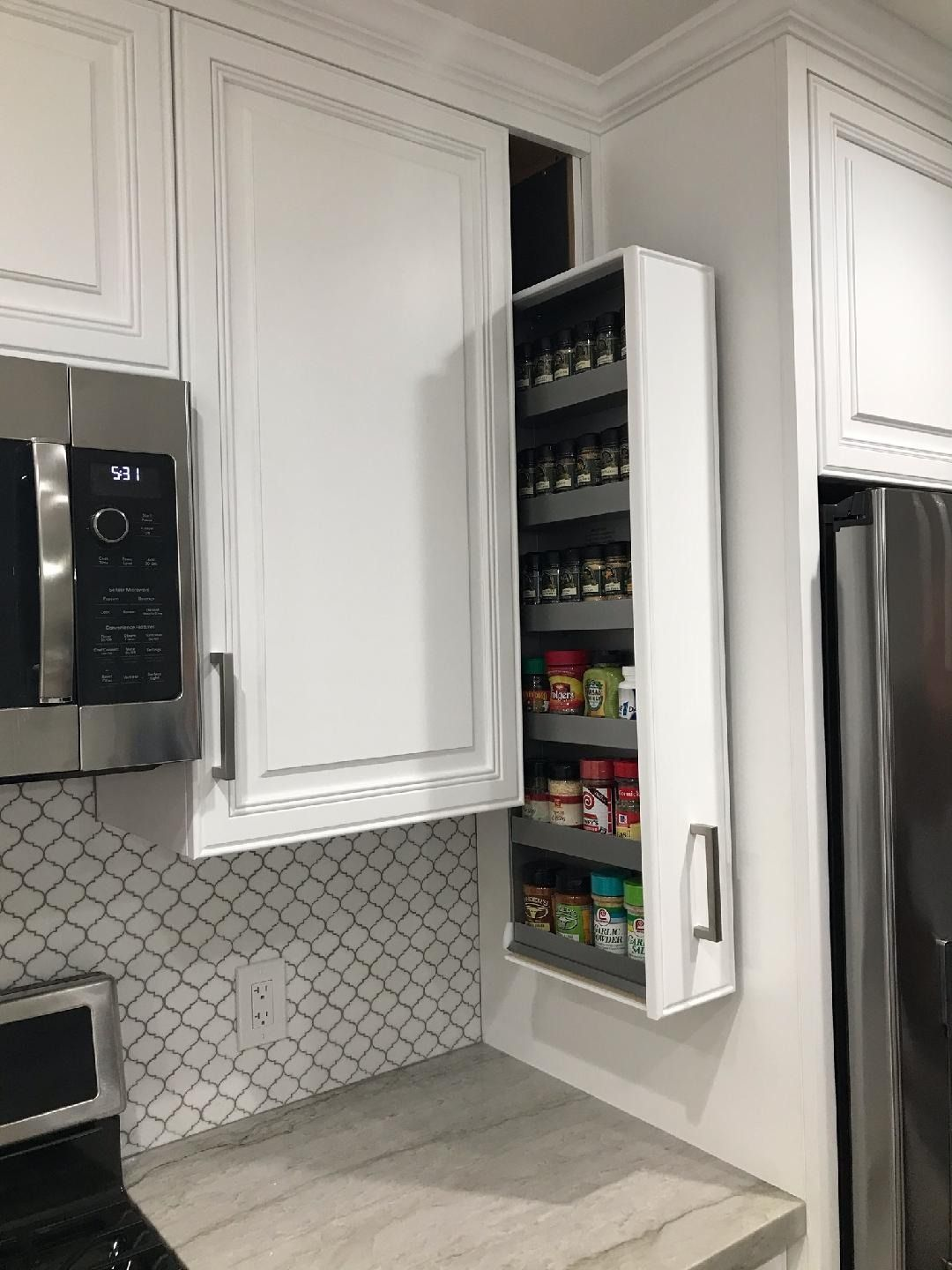 Ez Install Spice Rack In 2020 Kitchen Inspiration Design Newly Remodeled Kitchens Upper Cabinets