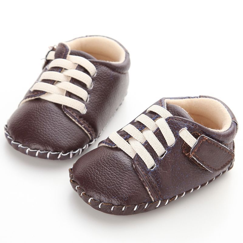 0-18M Baby Toddler Boys Girls Soft Sole Kids Shoes Prewalker Lace Up Sneaker USA