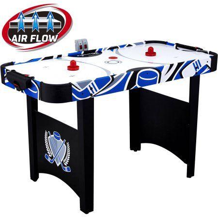 Md Sports 48 Air Powered Hockey Game Table Led Electronic Scorer Black Green Walmart Com Air Hockey Air Hockey Table Sports Games For Kids