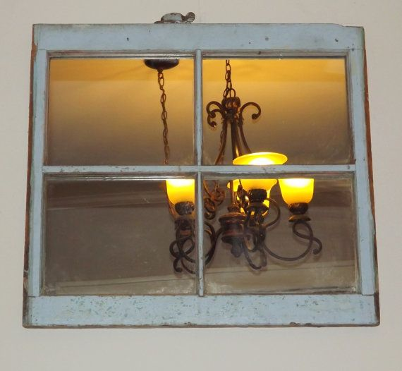 Vintage Authentic 4 Pane Window Converted To A Mirror Rustic Vintage Home Decor Vintage Windows Old Window Projects