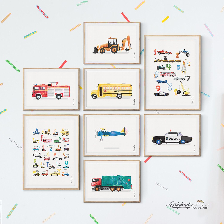 Transportation - Printable Set of 8 - LAND19 images