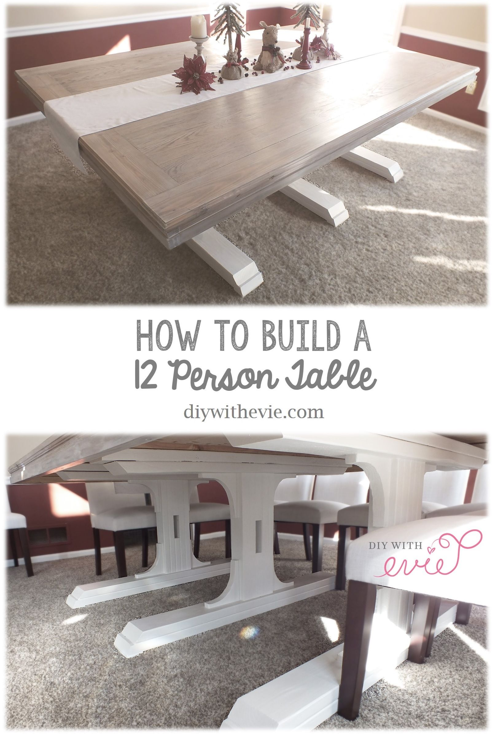 Diy 12Person #shabby #chic #table  In Only 17 Steps You Can Simple Shabby Chic Dining Room Table Design Ideas