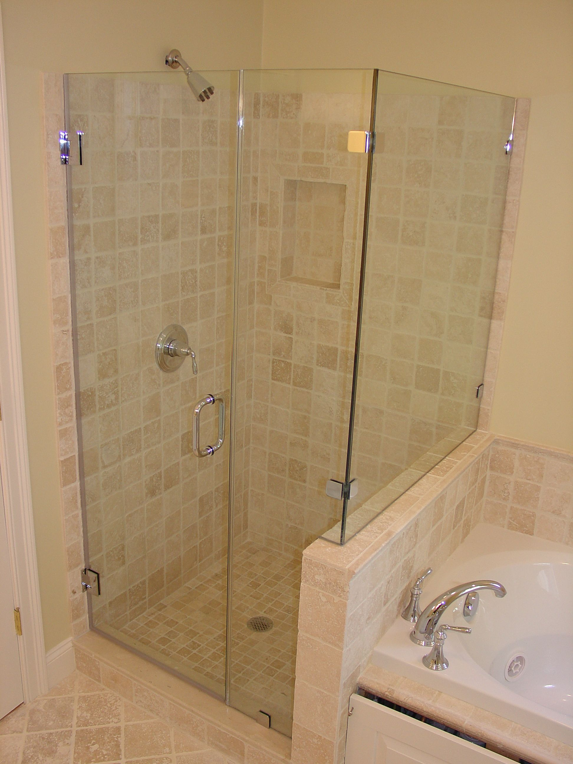 The glass shower ideas glass enclosed shower tub jpg up there is used allow  the decoration