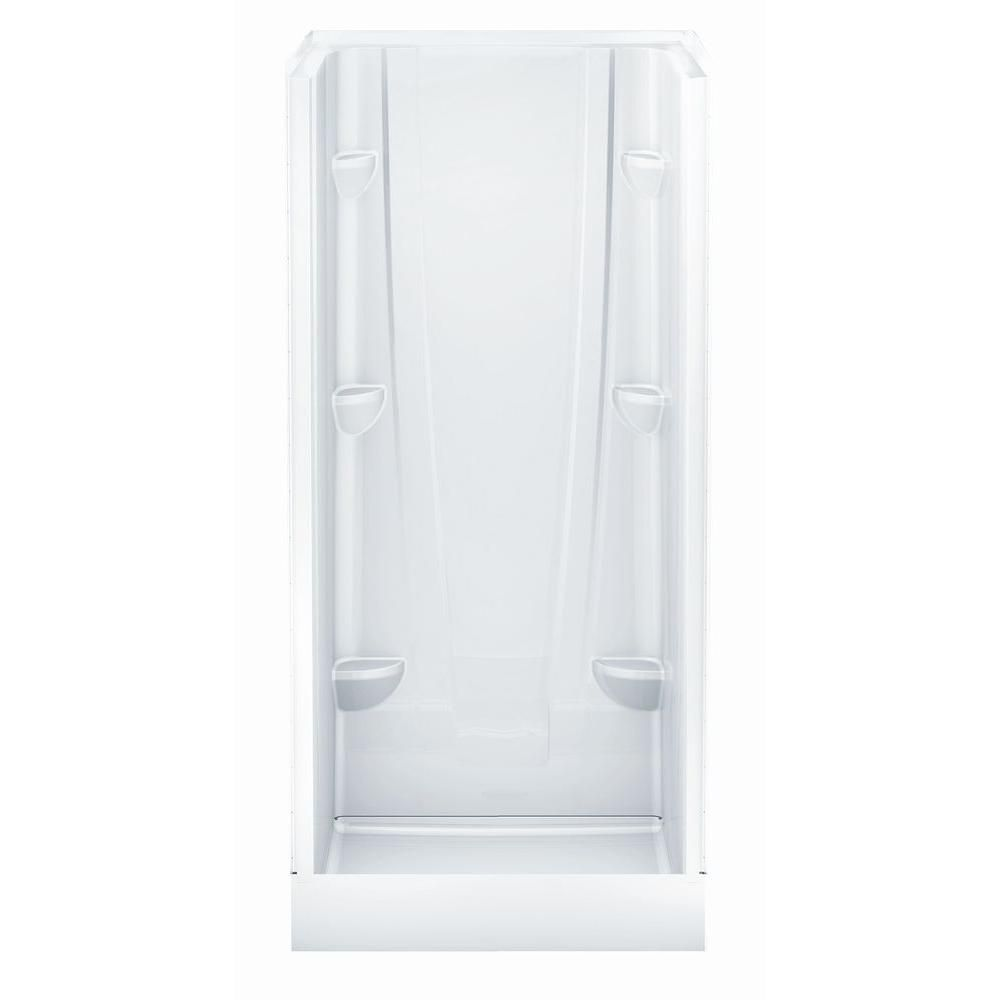 Aquatic A2 32 in. x 32 in. x 76 in. Shower Stall in White ...