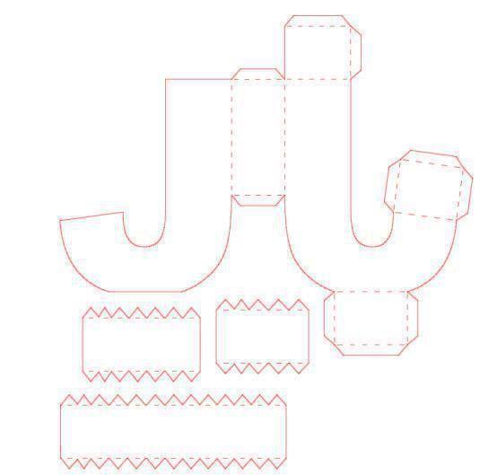 pin by t c r i on diy 3d letters buchstaben basteln mit papier vorlagen. Black Bedroom Furniture Sets. Home Design Ideas