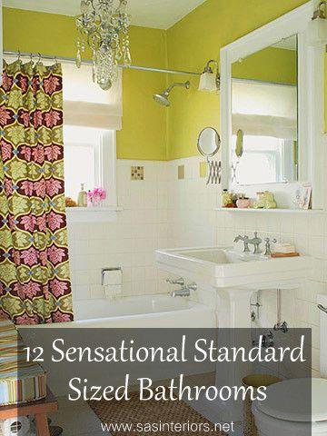 Sensational bathroom designs for standard sized spaces, featured on www.sasinteriors.net