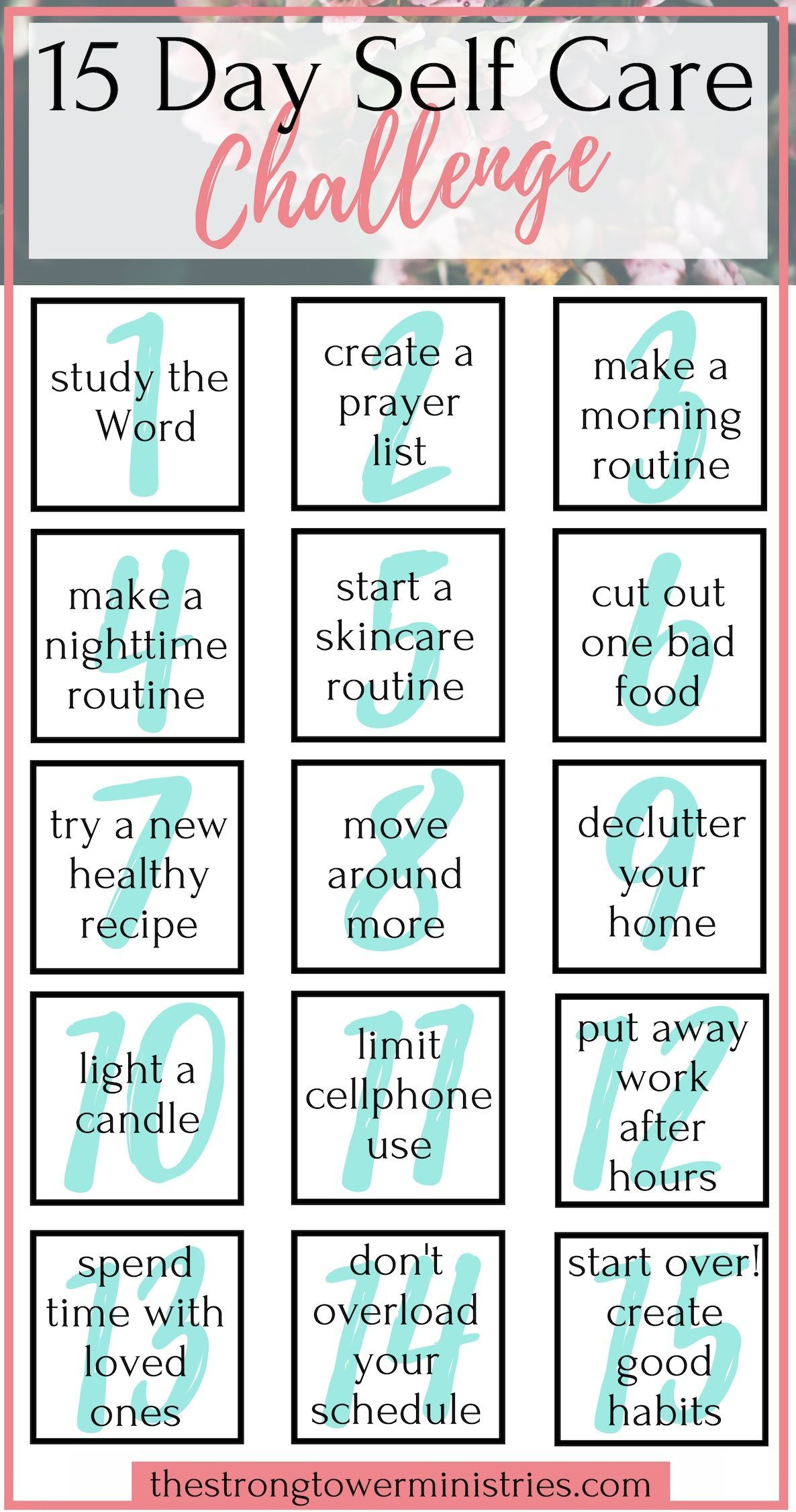 15 Day Self Care Challenge Healthy Routine Self Love Christian Blogs For Women Fall Self Care Chal Encouragement Quotes Christian Blogs Healthy Routine