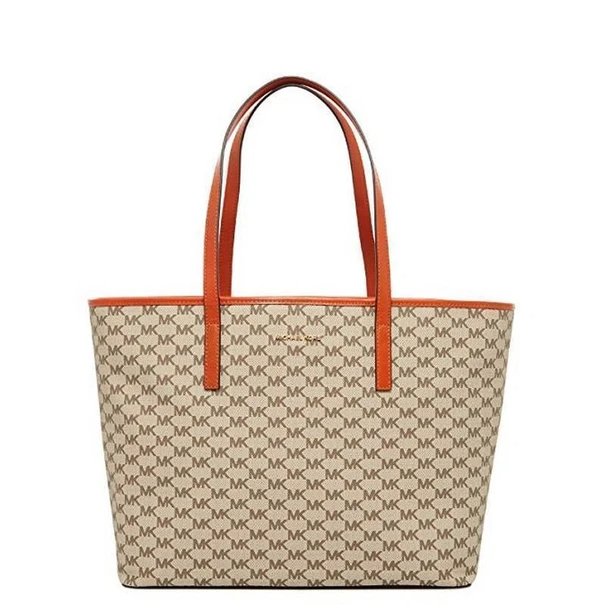 Signature Emry Medium Top Zip Tote Bag In 2020 Zip Tote Tote Leather Patches