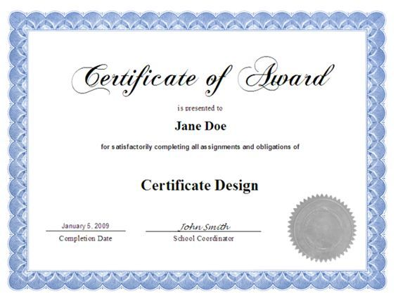 15+ Certificate Designs for Your Inspiration Certificate design - examples of award certificates