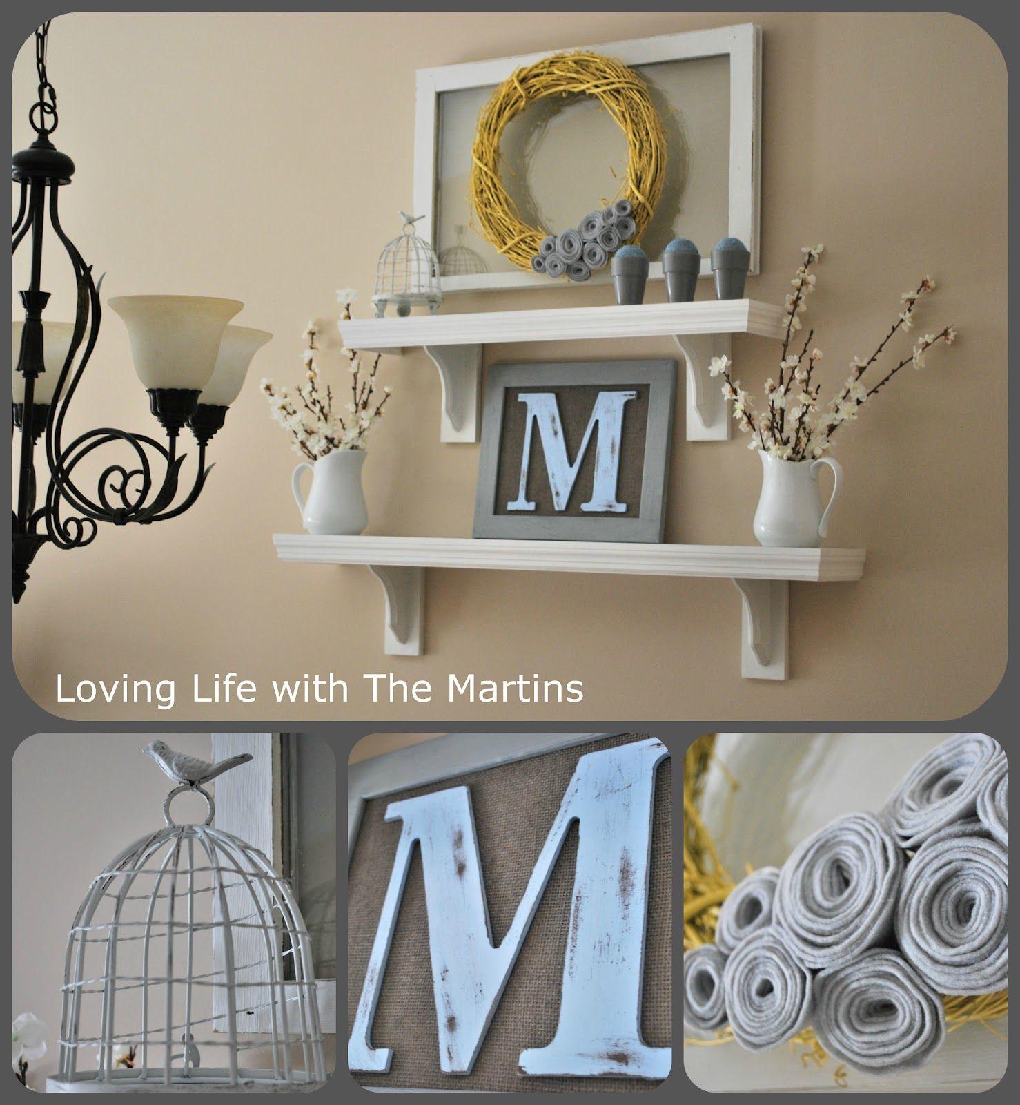 shelf decor - Google Search | polki | Pinterest | Letras y Decoración