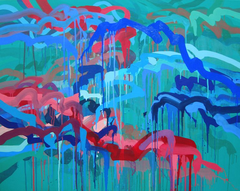 """Lacey Kim; Oil, Painting """"Dialogue of Silence#61"""""""