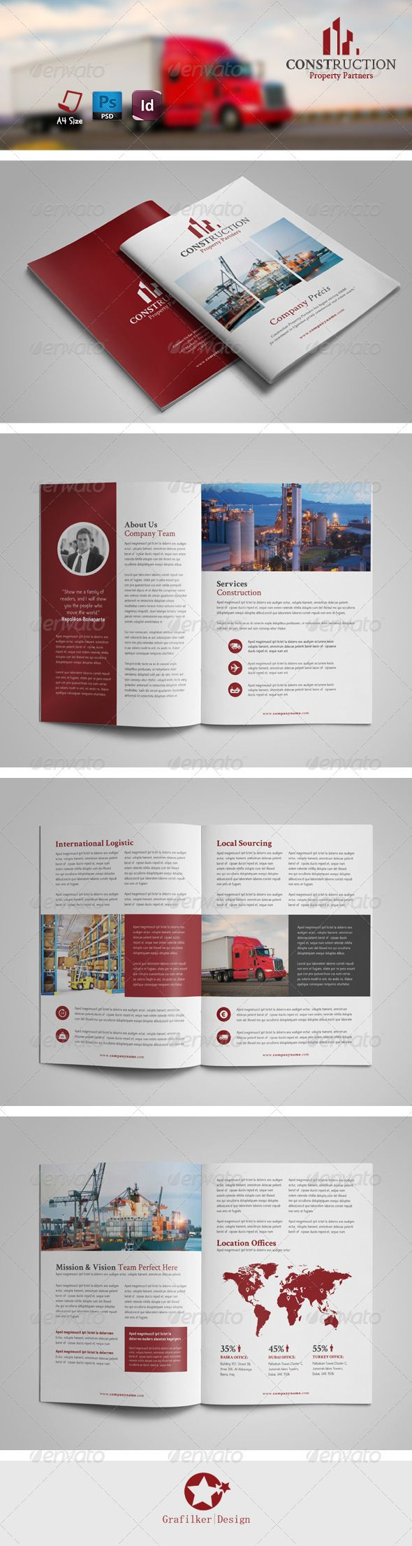International Brochure Templates  Brochure Template Brochures