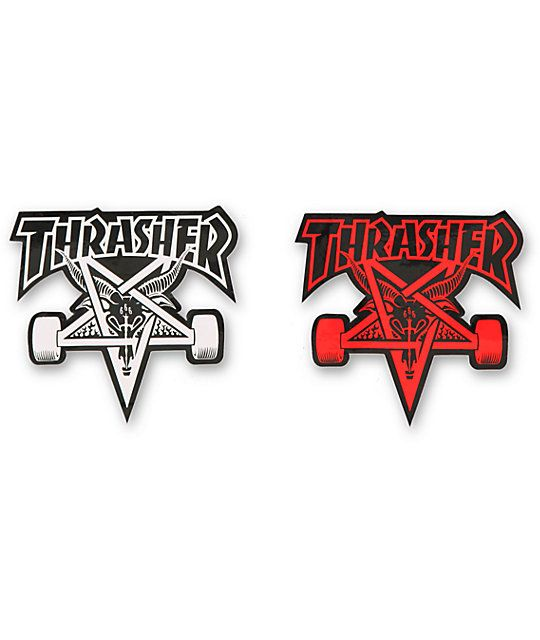 Add some costume flavor to your setup with the thrasher skategoat star graphic and the peel and stick design that allows to stick this bad boy on anything