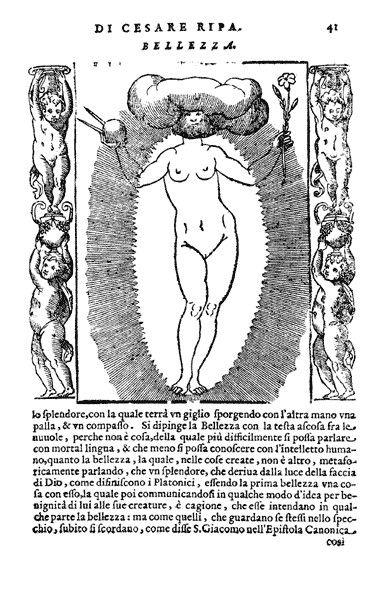 Cesare Ripa, Bellezza, da Iconologia, 1603