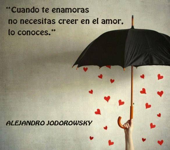 Cuando Te Enamoras No Necesitas Creer En El Amor Lo Conoces Alejandrojodorowsky Citas Quotes Inspirational Positive Pretty Quotes Alejandro Jodorowsky