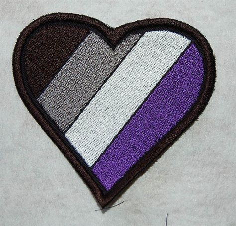 Asexual flag patch