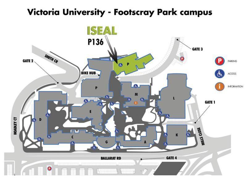 victoria university footscray campus map Iseal Vu Footscray Park Campus Map Victoria University Melbourne victoria university footscray campus map