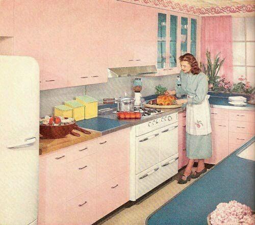 The 1950s Retro Pink Kitchens Pink Kitchen Retro Kitchen