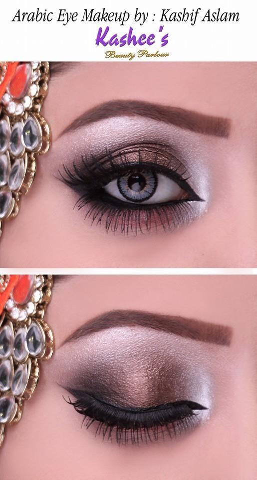 Soft Arabic Eye Makeup In Copper Shade Arabic Eye Makeup