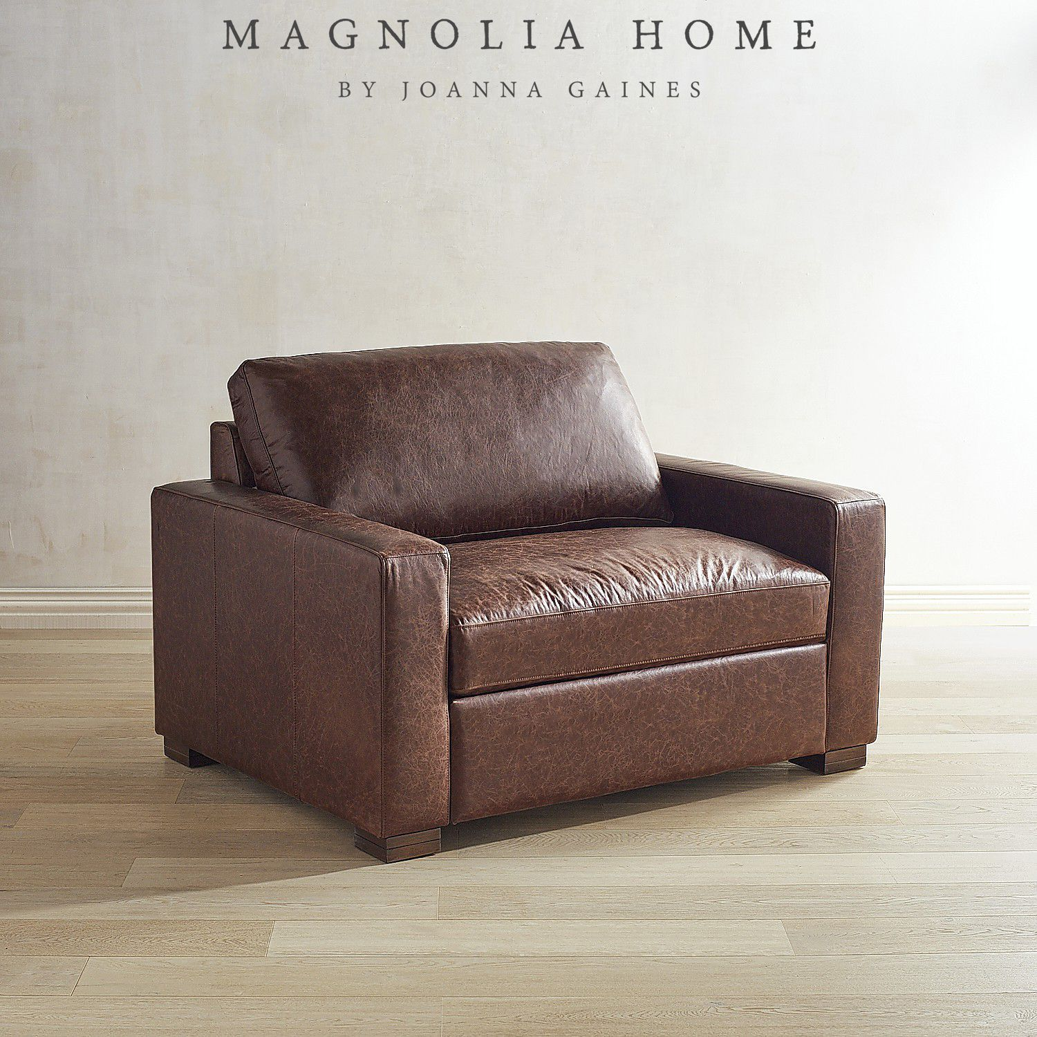 Magnolia Home Southern Sown Leather Chair Amp A Half