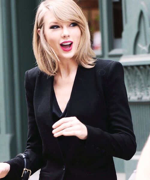 Chic in a black suit
