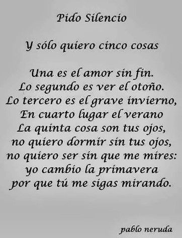 Poemas De Amor Cortos Para Enamorar Neruda Frases Pablo