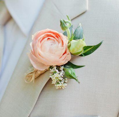 pink ranunculus boutonniere - toronto flower company | flowers