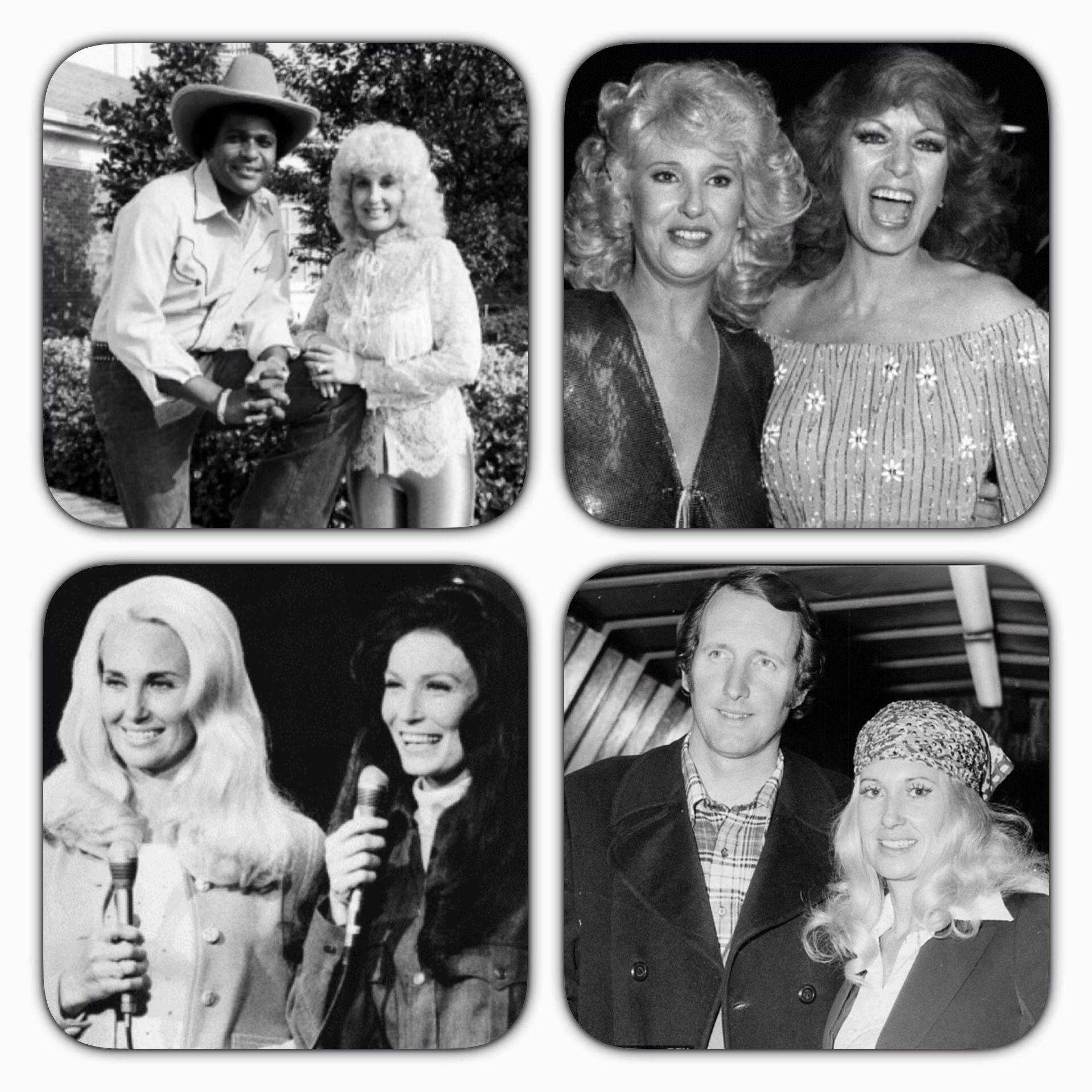 Tammy Wynette with Charley Pride, Dottie West, Loretta Lynn and George Hamilton, IV.